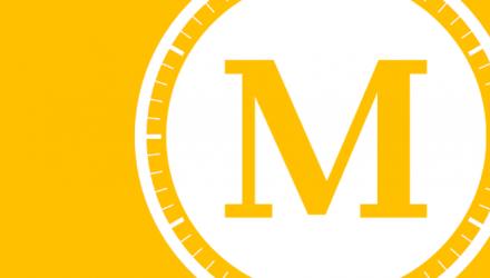 Merkurpisst länger! (Logo von Merkurpisst.de, umrahmt von einem stilisierten Ziffernblatt)